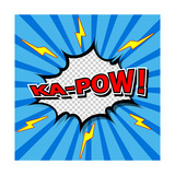 Ka-Pow! Comic Speech Bubble, Cartoon Print by  jirawatp
