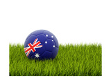 Football with Flag of Australia Prints by Mikhail Mishchenko