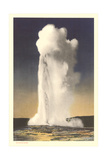 Old Faithful Geyser, Yellowstone Art