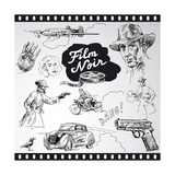 Film Noir - Hand Drawn Collection Prints by  canicula