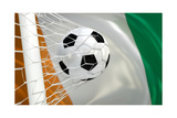 Ivory Coast Waving Flag and Soccer Ball in Goal Net Posters by  BarbraFord