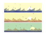Horizontal Banner: Mosaic of Wave with Foam Print by  Vertyr