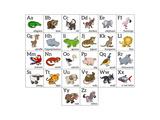 Cartoon Animal Alphabet Chart Prints by  Krisdog