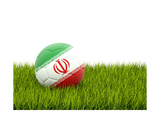 Football with Flag of Iran Prints by Mikhail Mishchenko