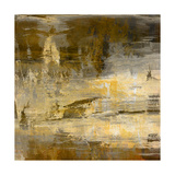 Art Abstract Acrylic Background in Beige, Yellow, Grey and Brown Colors Prints by Irina QQQ