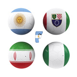 F Group of the World Cup Posters af  croreja