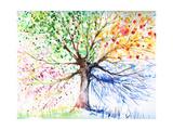 Træ Giclee-tryk i høj kvalitet af  DannyWilde
