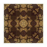 Art Nouveau Geometric Ornamental Vintage Pattern in Beige, Violet and Brown Colors Posters by Irina QQQ