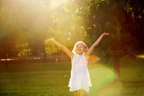 Girl Playing in the Sun Photographic Print by Elena Efimova