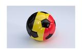 Soccer Ball with Belgium Flag Art by  BarbraFord
