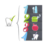 Healthy Teeth Tips Premium Giclee Print by  guniita