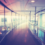 Hallway in Building with Glass Photographic Print by  melking