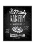 Vintage Bakery Poster - Chalkboard Prints by  avean