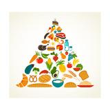 Health Food Pyramid Posters af  Marish