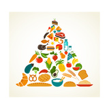 Health Food Pyramid Premium Giclee Print by  Marish