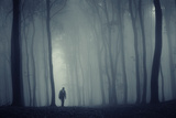 Man in a Dark Forest with Fog Prints by  ando6