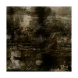 Art Abstract Acrylic Background in Brown, Grey and Black Colors Print by Irina QQQ