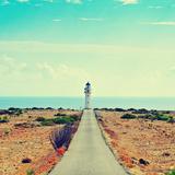 View of Beacon Far De Barbaria in Formentera, Balearic Islands, Spain, with a Retro Effect Posters par  nito