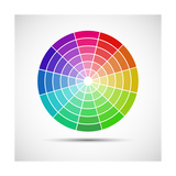 Color Round Palette Prints by Lukas Kurka