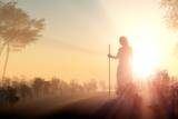 Silhouette of Jesus in the Sunlight Reprodukcja zdjęcia autor 1971yes