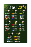 Brasil 2014 Land Grops Table Print by  myotrostock
