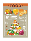 Food Info Graphic Elements Prints by Aleksey Vl B.