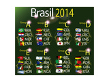 Brasil 2014 Country Grops Table Prints by  myotrostock
