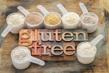 Measuring Scoops of Gluten Free Flours Photographic Print by  PixelsAway
