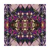 Art Nouveau Geometric Ornamental Vintage Pattern in Lilac, Violet and Blue Colors Art by Irina QQQ