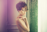 Fashion Art Photo of Young Sensual Lady in Classical Interior Posters by George Mayer