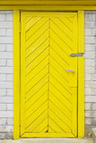 Yellow Old Wooden Door Photographic Print by  vilax