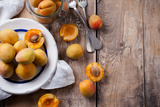 Rustic Still Life with Apricots Photographic Print by  manera