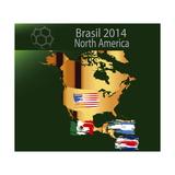 Brazil 2014 Team North America Posters av  myotrostock