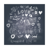 Blackboard Romantic Set Prints by  smilewithjul