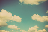 Blue Sky Vintage and Natural Background Photographic Print by  tortoon