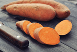 Raw Sweet Potatoes Photographic Print by  tashka2000
