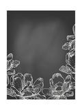 Flowers on Chalkboard Kunst von  tukkki