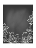 Flowers on Chalkboard Prints by  tukkki
