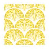 Art Deco Geometric Pattern in Bright Yellow Affiches par  tukkki