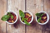 Vegan Food: Three Plates of Grilled Vegetables Prints by  manera