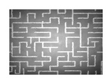 Close Up of Hand Drawn Maze on Blackboard Art by Sergey Nivens