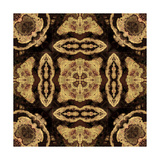 Art Nouveau Geometric Ornamental Vintage Pattern in Beige and Brown Colors Prints by Irina QQQ