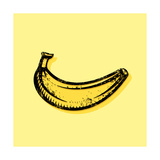 Hand Drawn Banana Prints by Ron Dale