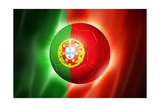 Soccer Football Ball with Portugal Flag Posters by  daboost