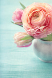 Pink Flowers in a Vase Photographic Print by  egal