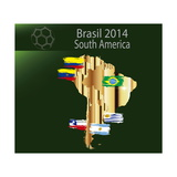 Brazil 2014 Team South America Posters by  myotrostock