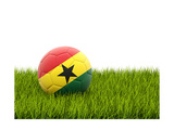 Football with Flag of Ghana Prints by Mikhail Mishchenko