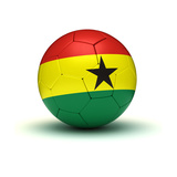 Ghanaian Football Print by  Ufuk