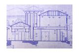 Blueprint Print by  BVDC