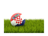 Football with Flag of Croatia Print by Mikhail Mishchenko